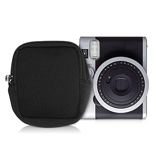 kwmobile Funda de Neopreno en Negro- Estuche para cámara de Fotos Compatible con Instax Mini 90 Neo Classic - con Cremallera