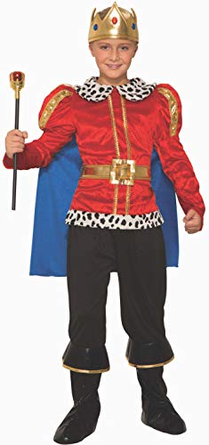 Forum Novelties Royal King Costume for Kids – Regal Costume Accessory with Cape, Shirt, and Crown