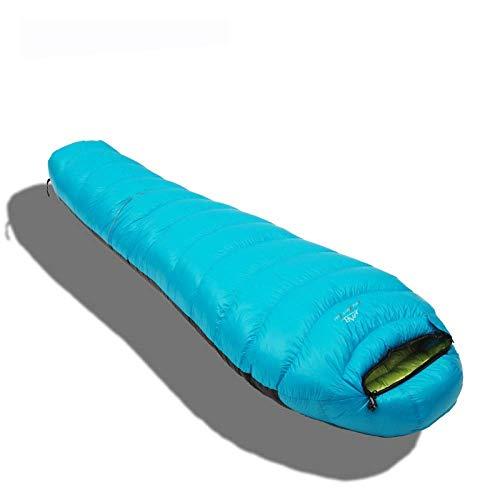 BABY Sac de Couchage en Duvet Momie Fashion, Sac de Couchage pour Camping en Plein air, Sac de Couchage Universel Four Seasons (Color : Light Blue)
