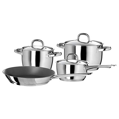 IKEA Oumbärlig 7-teiliges Kochgeschirr-Set aus Edelstahl