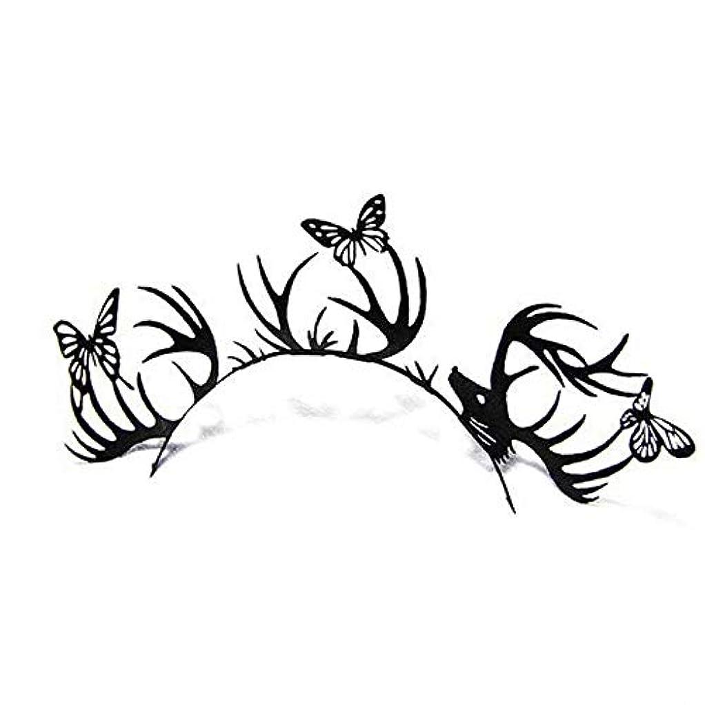 無心しっとり傷つける[Paperself] Paperself紙偽まつげ - 鹿と蝶 - Paperself Paper False Lashes - Deer And Butterfly [並行輸入品]