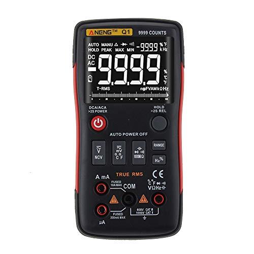 Digital Multimeter ANENG Q1 9999 Veri RMS AC DC Spannung Spannung Widerstand Temperatur-Tester Automatischer Tiro/Manueller Grafischer Barrel-Grafik.