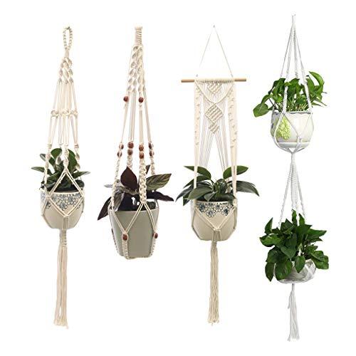 Rekkles 4 PC/Set Cubierta de Pared Exterior Colgantes Titular Planter Basket Balcón Patio del jardín de Flores Tiesto Decoración