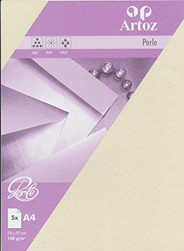 Artoz Papier AG - Perle Papier A4 (120g/m²) 5er-Pack ivory