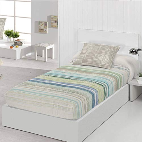 JVR - Edredón Ajustable Queens - Cama 90 Cm - Color Turquesa