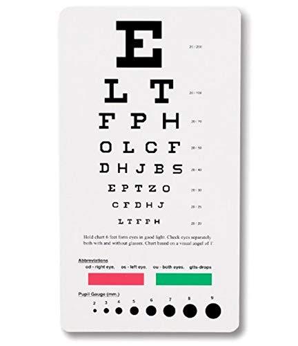 NCD Medical/Prestige Medical 3909 snellen pocket eye chart