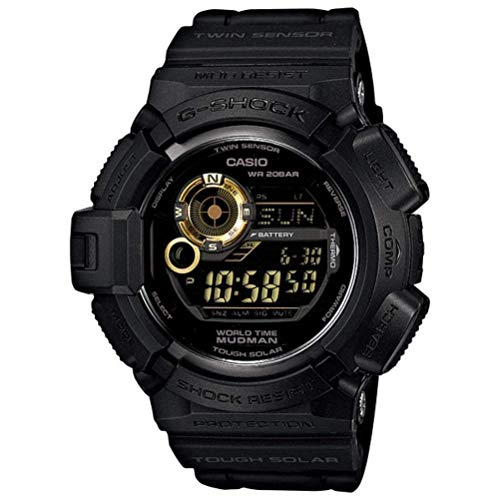 Casio Men's G9300GB-1 G Shock Digital Quartz Black Solar Watch