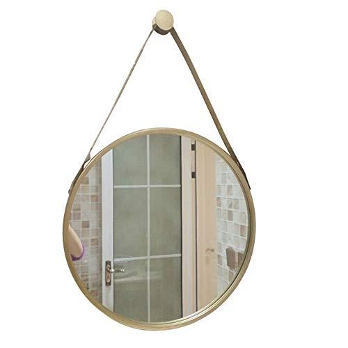 WWJ- Bathroom Mirror Round Mirror Wall Mounted Hotel Vanity Mirror Beauty Mirror -