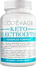 Codeage Keto Electrolyte Supplement (Extra Strength) for a Low Carb Diet or Ketogenic Diet, Calcium Magnesium Sodium Potassium, Electrolytes Powder Salt Pills & Drink Hydration Tablets, 180 Capsules