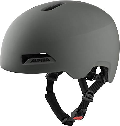 ALPINA Unisex - Erwachsene, HAARLEM Fahrradhelm, coffee-grey matt, 52-57 cm