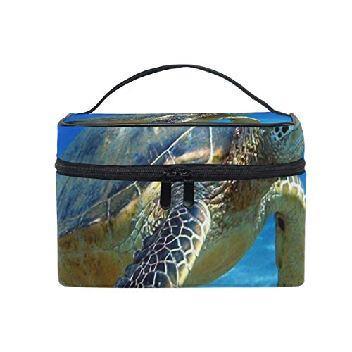 Trousse de maquillage Animal-Sea-Turtle Cosmetic Bag Portable Large Toiletry Bag for Women/Girls Travel