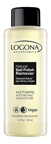 LOGONA Naturkosmetik Natural Nail Nagellack-Entferner, Ohne Aceton und geruchsarm, Natürliche...
