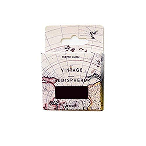 AIUIN Etiqueta Adhesiva Mapa del Mundo Pegatina de Sellado DIY Paquete de Regalo (Estilo 1)