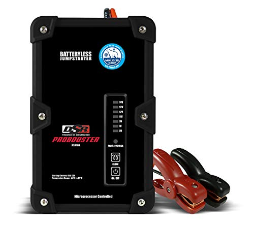 Schumacher DSR ProSeries DSR108 450 Amp 12V Ultracapacitor Batteryless Pro Jump Starter 10,000 cycle/10-Year Lifespan