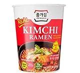 Daesang Jongga Kimchi Ramen Taza con tenedor 85 g – Kimchi Ramen, ahora viene en una taza pequeña también! Real Kimchi Pack interior – Fácil de hacer!
