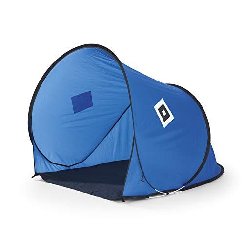 Hamburger SV Strandmuschel mit Logo | HSV Pop-Up-Strandzelt | OFFIZIELLES Produkt | Wind- & Sichtschutz [blau/schwarz/weiß]