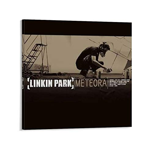 qidong Linkin Park Meteora Album Cover Canvas Art Poster and Wall Art Picture Print Modern Family Bedroom Decor Posters 12x12inch(30x30cm)