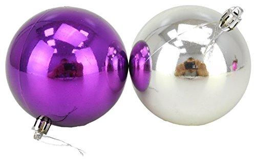 Christmas Concepts 10 Extra Large 100mm Violet & Silver Babioles - Arbre de Noël Décorations