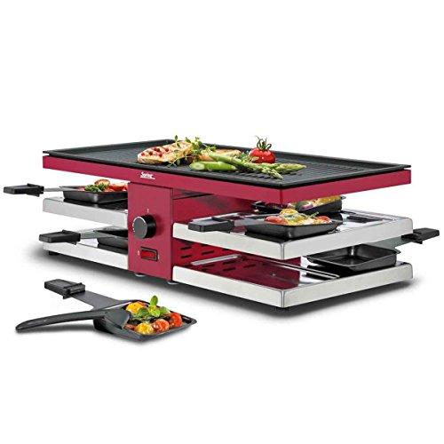 Spring Raclette mit Alugrillplatte, rot