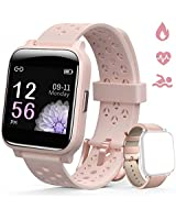 Smart Watch for Women Hommie, Fitness Tracker Watch with Touch Screen, Sleep Tracker, Heart Rate Monitor, Message Call Reminder and More, Waterproof Smart Watch for Android Phones, iPhone.