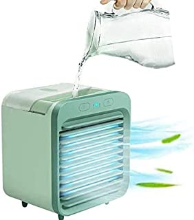 A/N Aire Acondicionado refrigerado por Agua Recargable 2020 Se Puede Usar en Exteriores - Ventilador de Aire Acondicionado portátil, Mini refrigerador de Aire, Carga USB, 3 velocidades