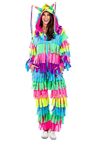 Tipsy Elves' Women's Pinata Costume - Bright Colorful Halloween Jumpsuit Size: Small
