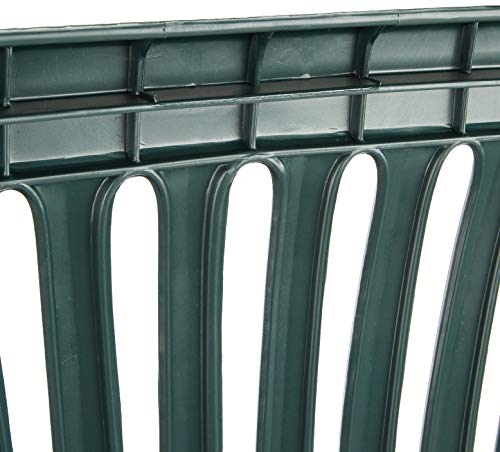 Progarden 47100 Bank Diva, 2-sitzig, 55 x 120 x 88 cm, Vollkunststoffgestell, dunkelgrün - 4