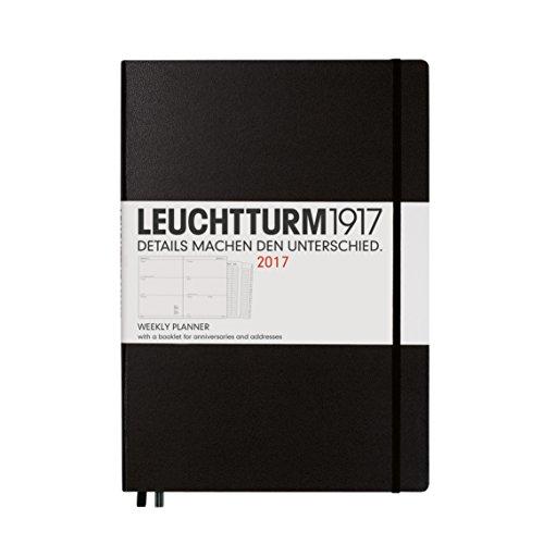 Leuchtturm1917 348252 Wochenkalender, Master, schwarz