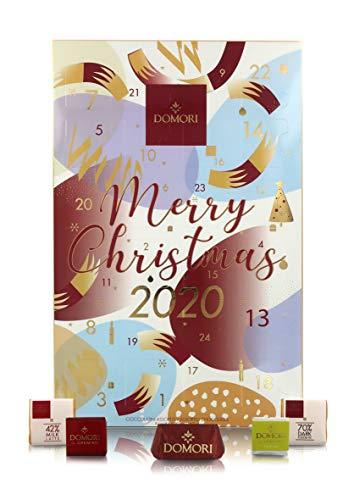 Domori Calendario Dell'Avvento 2020 Con Cioccolatini, 167 Grammi