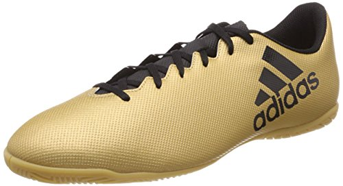 Adidas X Tango 17.4 In, Zapatillas de fútbol Sala para Hombre, Amarillo (Ormetr/Negbas/Rojsol 000), 48 2/3 EU