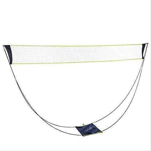 Yonphy Tragbares Badminton Netz, Tennisnetz, Volleyballnetz, mit Stand-Tragetasche, für den Indoor-Strandsport im Freien