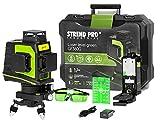 Linea trasversale laser verde 3 x 360 gradi | laser rotante autolivellante con CASE | porta di ricarica USB | funzione di emissione | LASER GLASSES | livello mini treppiede | supporto magnetico