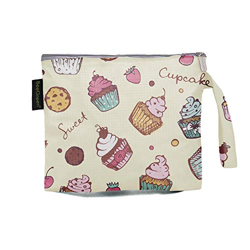Lovely Reusable Sandwich Bags Reusable Snack Bags for Kids School Lunches with FoodGrade PEVA Lining Nylon Washable BPA Free Snack Bags for Handmade Food Snacks Fruits Set of 1