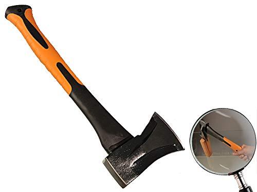 MISO Tools Spalt-Beil Griff aus Fiberglas 1000 gr. Kopfgewicht integrierter Spaltkeil im Schlagkopf