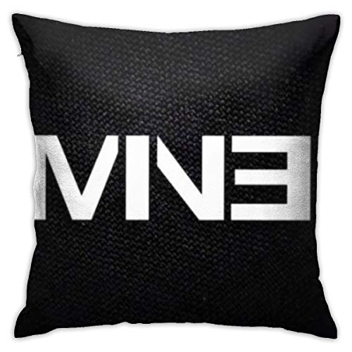Shadidi Eminem Fundas de almohada de algodón y poliéster, fundas de almohada para sofá, decoración del hogar, 45 x 45 cm, almohada de 18 x 18 pulgadas, poliéster, Eminem 1, talla única