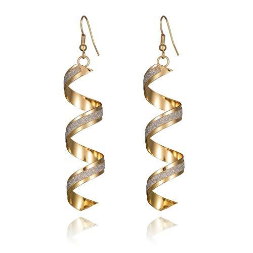 KnBob Dangle Earrings Gold Spiral Geometric Earrings Earrings Gold Plated for Women