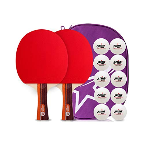 Check Out This YINJIESHANGMAO Table Tennis Racket, Double Shot 2 Packs, Student Beginners Children T...