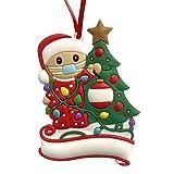 HIAME weihnachtsschmuck 2020,Weihnachten deko,anhänger Weihnachten Geschenk,weihnachtlicher Stoff,Personalisierte Christbaumschmuck Name des Familienmitglieds Weihnachtsanhänger (2)