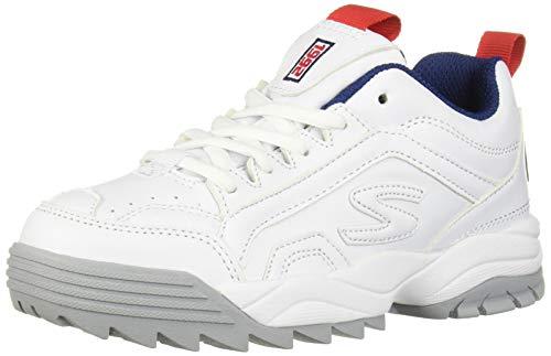 Skechers Kids Boys' INTERSHIFT Sneaker, Navy/Red/White, 4