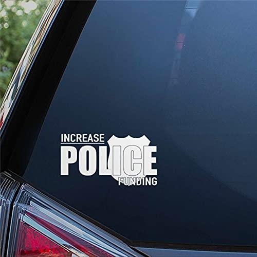 Calcomanías de vinilo para ventana de coche con diseño de aumento de fondos de policía, pegatinas divertidas para parachoques presentes, 8 pulgadas vc234