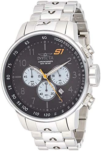 Invicta Men's S1 Rally 48mm Stainless Steel Quartz Watch, Silver (Model: 23080, 23078)