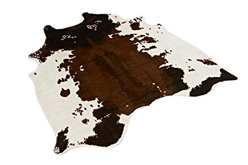 Tapis en peau de vache synthétique pour la maison, 124x 128cm