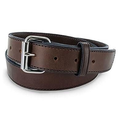 "Hanks Stitch Gunner Belts - 1.5"" Best Vaue in A Concealed Carry Belt - USA Made 13OZ Leather - 100 Year Warranty - BRN - 40"