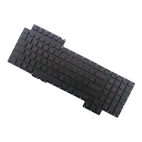 Almencla US-Layout Ersatztaste Taste Austausch-Tastatur-Keyboard für ASUS ROG G752 G752V G752VL Laptop, Hintergrund-Beleuchtung