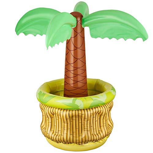 Balinco Aufblasbare Palme Bierkühler Bier Party Kühler Eiskübel Partyzubehör Aufblasbarer Partykühler für Sommer Schwimmbad Themenparty