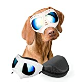 PETLESO Dog Goggles- Large Breed Dog Sunglasses Dog Eye Protection for Outdoor Driving Cycling, White
