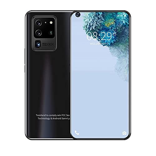 LINGOSHUN Smartphone de Pantalla Grande S30U+,Batería de 2500mAh,Teléfono Móvil de 2MP + 5MP, 2GB de RAM Y 16GB de Memoria Interna Ampliable 128G / Negro / 6.82in