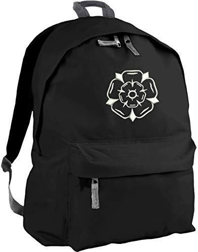 HippoWarehouse Yorkshire Rose Embroidered Backpack ruck Sack School College uni Bag 31 x 42 x 21 cm Capacity: 18 litres