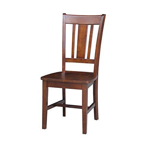 International Concepts San Remo Splat Back Chair, Espresso