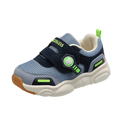 WZHKIDS Toddler Little Kid Boys Girls Shoes Running Walking Sports Sneakers Outdoor Shoes (Dark Grey, 4)